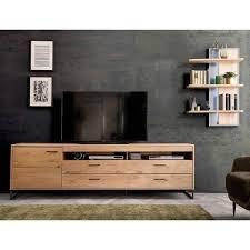 großes design tv board wandregal assela 2 teilig