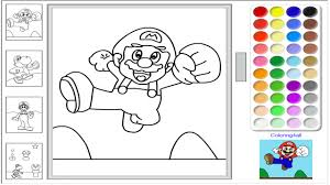 Super Mario Online Coloring Pages Game