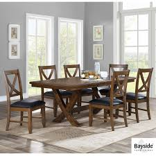 Bayside Furnishings Valaria Extending Dining Room Table 6 Chairs