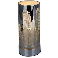 le tactile cylindrique métal graphique ou new york