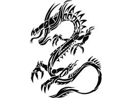 Fire Breathing Tribal Dragon Tattoo
