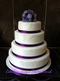 Attractive Four Tier Wedding Cake On Cakes With