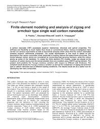 Finite Element Modeling And Analysis Of Zigzag And Armchair Type ... Iab Initioi Study Of The Electronic And Vibrational Properties Slide Show Graphitic Pyridinic Nitrogen In Carbon Nanotubes Energetic Technologies Free Fulltext Refined 2d Exact 3d Shell Int Publications Mechanical Electrical Single Walled Carbon Patent Wo2008048227a2 Synthetic Google Patents Mechanics Atoms Fullerenes Singwalled Insights Into Nanotube Graphene Formation Mechanisms Asymmetric Excitation Profiles Resonance Raman Response