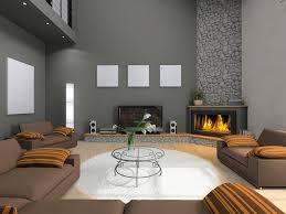 Modern Living Room Design Corner Stone Fireplace DMA Homes