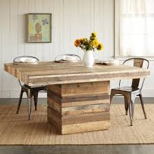Fabulous Reclaimed Wood Square Dining Table Pertaining To Rustic Idea 2