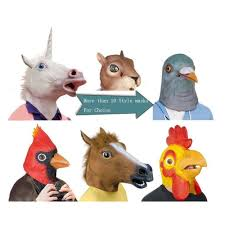 Funny Halloween Half Masks by Wolf Mask Ebay
