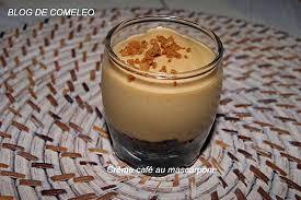 recette de crème café au mascarpone par comeleo