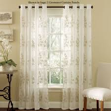 Curtains For Girls Room by Lombard Embroidered Semi Sheer Grommet Curtain Panels