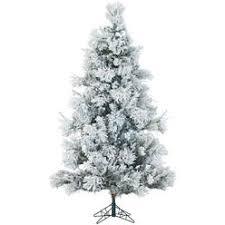 Fraser Hill Farm 9 Ft Flocked Snowy Pine Christmas Tree