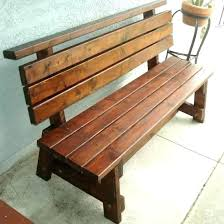 Rustic Benches With Backs Outdoor Wooden Wood Bench Back Storage