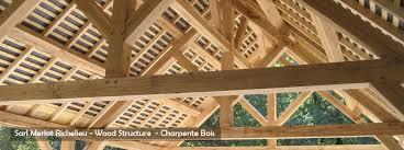 maison bois lamelle colle charpente bois merlot taille et pose de charpente