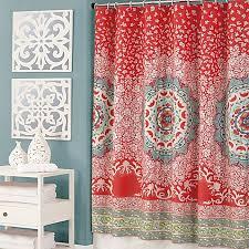 Jessica Simpson Amrita Medallion Multicolor Shower Curtain Bed