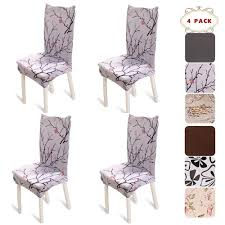 BEKVÄMTLife Stretch Dining Room Chair Covers Floral Chair Seat Protector  Washable Chair Slipcovers For Parsons Chair, Home Decor, Hotel, Banquet, ... Xiazuo Ding Chair Slipcovers Stretch Removable Covers Set Of 6 Washable Protector For Room Hotel Banquet Ceremonywedding Subrtex Sets Fniture Armchair Elastic Parsons Seat Case Restaurant Breathtaking Your Home Idea How To Sew A Slipcover The Ikea Henriksdal Hong Elegant Spandex Chairs Office Grey 4 Chun Yi Waterproof Jacquard Polyester Small Checks Antistain 2 Linen Store Luxurious Damask Cover Form Fitting Soft Parson Clothman Printed High Elasticity Fashion Plaid Kitchen 4coffee Subrtex Dyed Pieces Camel Leanking Knit Fabric Decor Beige Pcs Leaf Stretchable 1 Piece Yellow