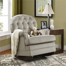 Graco Semi Upholstered Nursing Glider Chair by Baby Relax Gliders Dorel Living Baby Relax Brielle Button Tufted