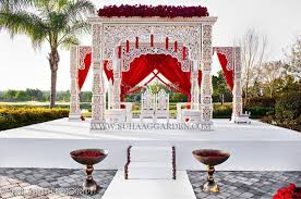 Garden Wedding Stage Decoration Suhaag Florida Decorator Outdoor Mandap