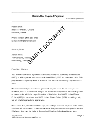 Demand for Stopped Payment USA Legal Templates Agreements