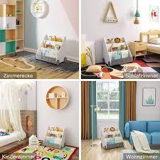 children s bookcase with wheels 3 shelves white