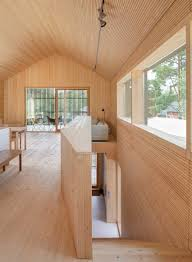 100 Wooden Houses Interior House H By Teemu Hirvilammi Has A Black Exterior And Pale Wood Interior