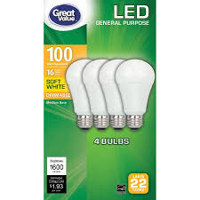 great value led light bulb 16w 100w equivalent a19 dimmable