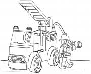 Lego Fire Truck Police Coloring Pages