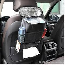 Auto Car Back Seat Boot Organizer Felt Covers Insulation Versatile Multi Pocket Storage With Cooler Bag For Food Container