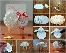 Cute Cotton Swab Lamb Craft Diy Cozy Home Work From Find Ideas