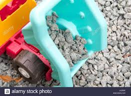100 Toy Moving Truck Toy Tipper Truck Moving Gravel Building Materials Stock Photo