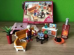 playmobil 5332 behagliches wohnzimmer mit flackernden kamin