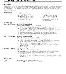 Resume Objective Examples Project Manager Construction Sample