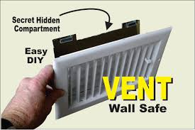 Diy Hidden Gun Cabinet Plans by Diy Air Vent With Secret Compartment Wall Safe Youtube