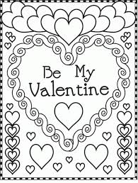 Free Printable Valentines Coloring Pages On Valentine Best For Kids