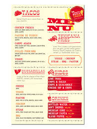100 Big Truck Taco Menu Texs S Food Truck Fun Creative Menu Design Illustration