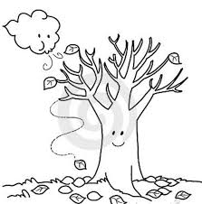 Coloring Pages Fall Trees Kids Drawing And Marisa