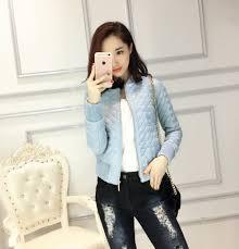 popular blue faux leather jacket for women buy cheap blue faux