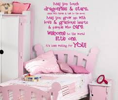 Awesome Wall Decor For Girl Bedroom Baby Nursery Ideas Pink Bedcover