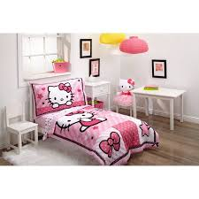 Hello Kitty Bedroom Decor At Walmart by Hello Kitty Sweetheart 3 Piece Toddler Bedding Set With Bonus
