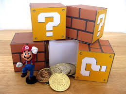 super mario question block papercraft party favor by partyshmarty