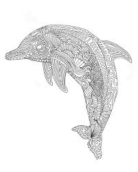 Printable Dolphin Coloring Page For Adults By TriciaGriffithArts On Etsy