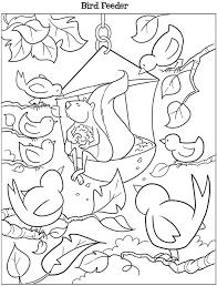 Dover Kooky Birds Coloring Page Bird Feeder