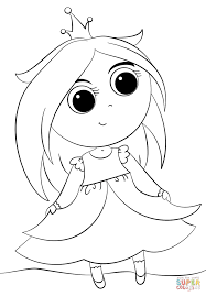 Click The Cute Little Princess Coloring Pages To View Printable Version Or Color It Online Compatible With IPad And Android Tablets