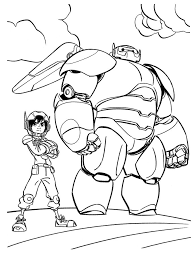 Big Hero 6 Coloring Pages If Your Kid Is A Fan Of Baymax Then