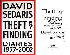 David SedarisPERSONALLY SIGNED DATED DOODLEDTheft By Finding1st