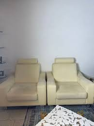 sofa sitzecke alcantara creme garnitur in 47475 k