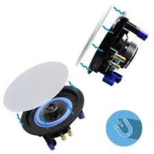herdio 4 zoll bluetooth decke lautsprecher kit badezimmer wireless bluetooth verstärker wasserdicht decke lautsprecher 2 weg
