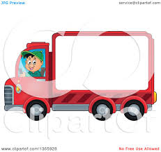 100 Delivery Truck Clipart Of A Cartoon Happy White Man Driving A With