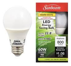dollar tree inc sunbeam皰 led light bulbs