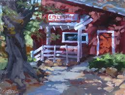 Oak Glen Pumpkin Patch Address by Karen Werner Fine Art Cider Mill A Plein Air Painting From Oak Glen