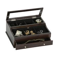 Dresser Valet Watch Box by Hampden Wooden Valet Watch Box Quality Mahogany Finish By Mele U0026 Co