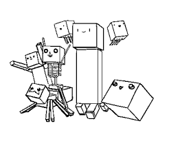Coloring Page Minecraft Video Games 42
