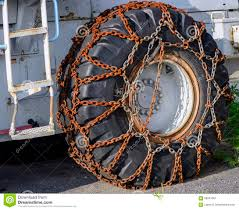 Snow Chains On Wheel Stock Image. Image Of Safe, Security - 58641657